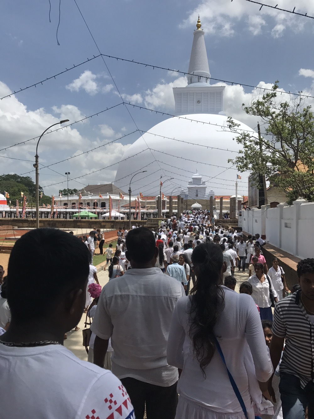 How to Survive Poya Day at Anuradhapura Ruins